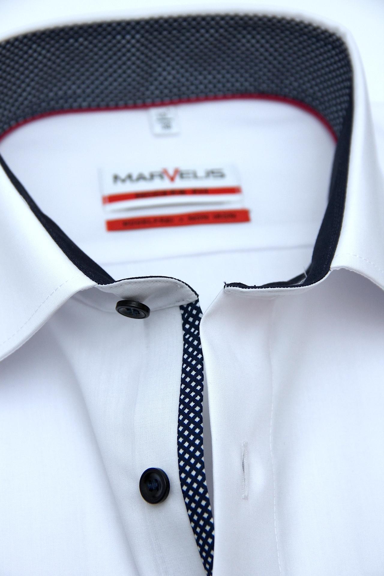 Marvelis-hemd 7225-12-11 Modern-fit Halbarm Blue Kleidung & Accessoires